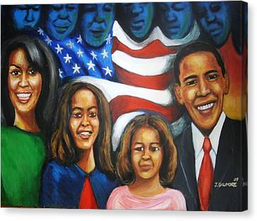 America's First Family Canvas Print by Jan Gilmore