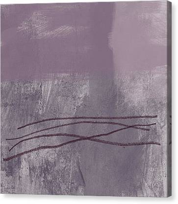 Amethyst 1- Abstract Art By Linda Woods Canvas Print by Linda Woods