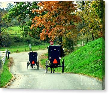 Amish Country In Autumn Ohio Holmes County Canvas Print by Charlene Cox