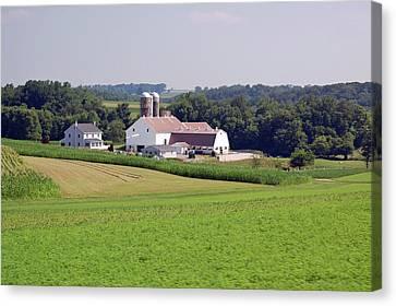 Amish Farm Canvas Print by Joyce Huhra