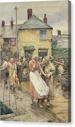 Among The Missing Canvas Print by Walter Langley