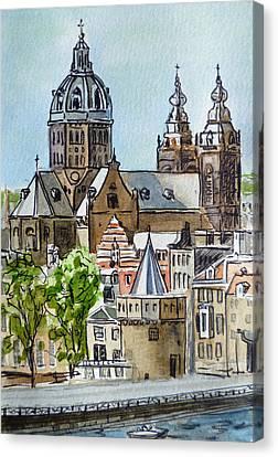 Amsterdam Holland Canvas Print by Irina Sztukowski