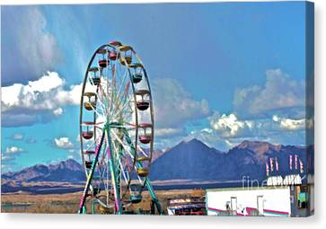 Amusement View Canvas Print by Gwyn Newcombe