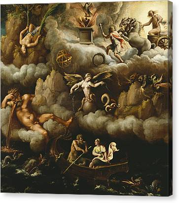 An Allegory Of Immortality Canvas Print by Giulio Romano