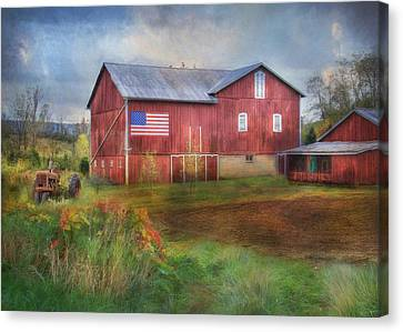 An American Farm Canvas Print by Lori Deiter