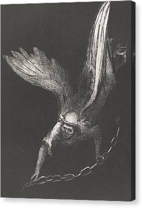 An Angel With A Chain In His Hands Canvas Print by Odilon Redon