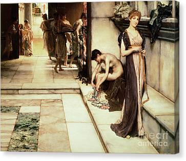 An Apodyterium Canvas Print by Sir Lawrence Alma-Tadema