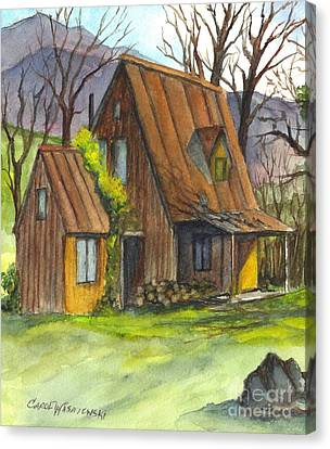 An Appalacian Cabin  Canvas Print by Carol Wisniewski