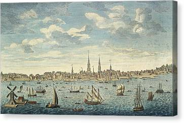 An East Prospective View Of The City Of Philadelphia Canvas Print by George Heap