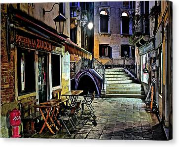 Evening Falls Upon Venice Canvas Print by Frozen in Time Fine Art Photography