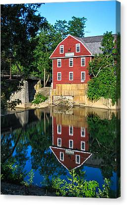 An Evening On The Waters Of War Eagle Mill Canvas Print by Gregory Ballos