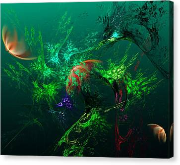 An Octopus's Garden Canvas Print by David Lane