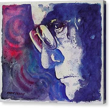 An Older John Cash Canvas Print by Chuck Creasy