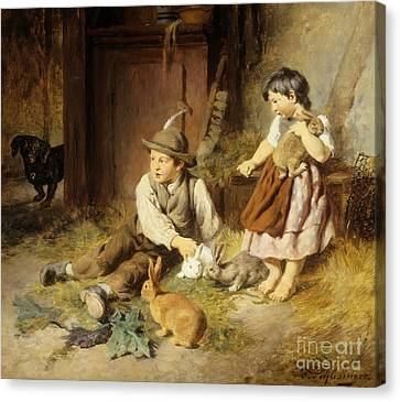 An Unwelcome Visitor Canvas Print by Felix Schlesinger