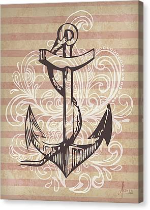 Anchor Canvas Print by Adrienne Stiles