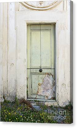 Ancient Door Rome Italy Canvas Print by Edward Fielding