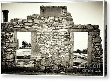 Ancient Doorway Canvas Print by John Rizzuto