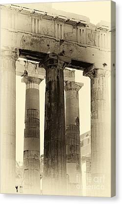 Ancient Greek Columns Canvas Print by John Rizzuto