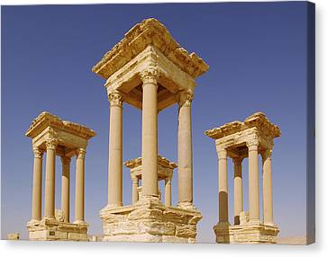 Ancient Palmyra Canvas Print by Roman School