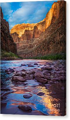 Colorado River Canvas Print featuring the photograph Ancient Shore by Inge Johnsson