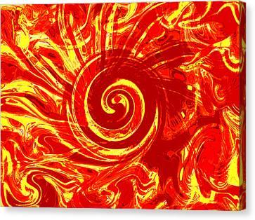 Ancient Tribal Sun Canvas Print by Abstract Alien Artist Stephen K