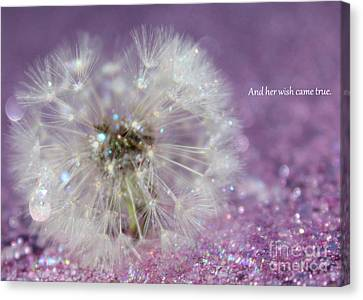 And Her Wish Came True Canvas Print by Krissy Katsimbras
