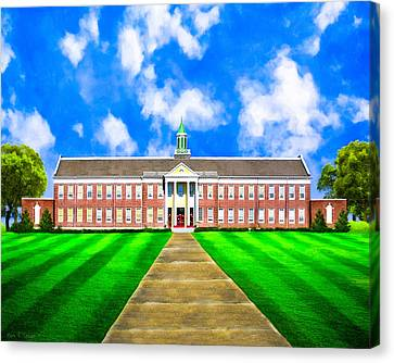 Old Main - Andalusia High School Canvas Print by Mark E Tisdale