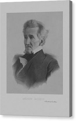 Andrew Jackson Canvas Print by War Is Hell Store