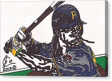 Andrew Mccutchen 1 Canvas Print by Jeremiah Colley