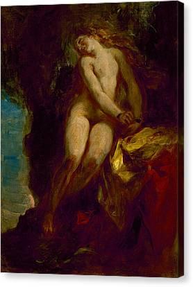 Andromeda Canvas Print by Eugene Delacroix