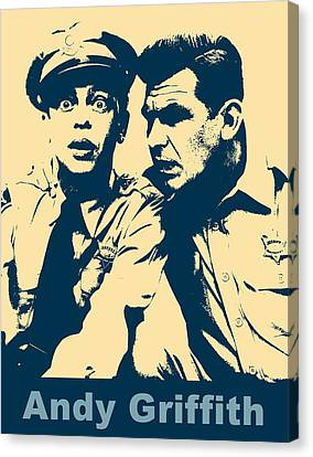 Andy Griffith Poster Canvas Print by Dan Sproul