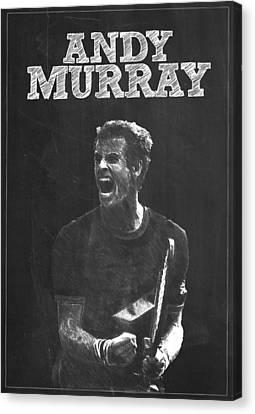 Andy Murray Canvas Print by Semih Yurdabak