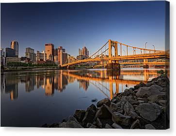Andy Warhol Bridge Canvas Print by Rick Berk