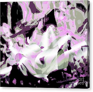Angel And Trumpet Canvas Print by Fania Simon