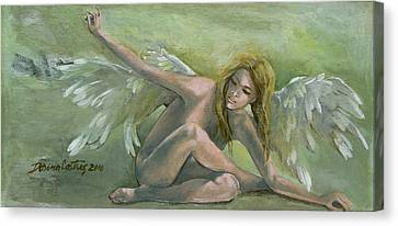 Angel Canvas Print by Dorina  Costras