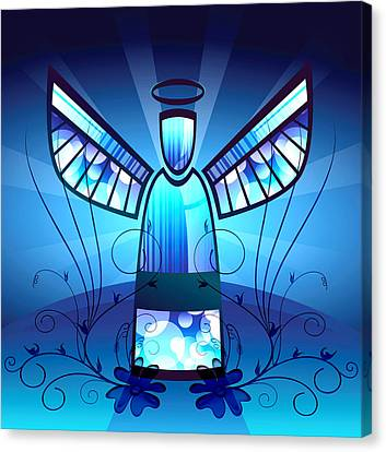 Angel Glass Canvas Print by Georgiana Romanovna