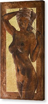 Angel In Gold Canvas Print by Richard Hoedl