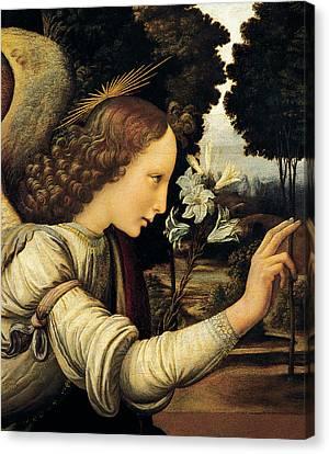 Angel Canvas Print by Leonardo Da Vinci