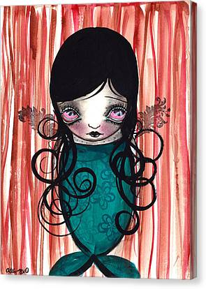 Angel Mermaid Canvas Print by  Abril Andrade Griffith