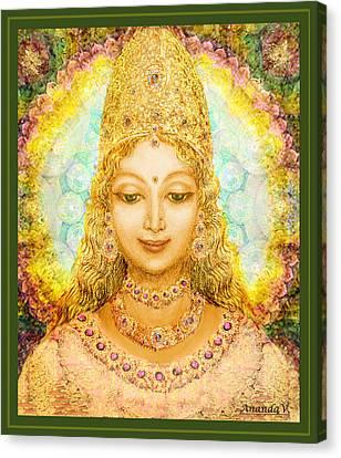 Angel Of Beauty  Canvas Print by Ananda Vdovic