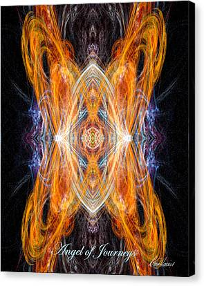 Angel Of Journeys Canvas Print by Diana Haronis