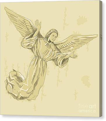 Angel With Arms Spread Canvas Print by Aloysius Patrimonio