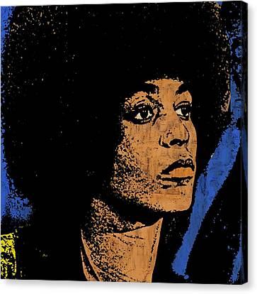 Angela Davis-2 Canvas Print by Otis Porritt