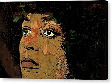 Angela Davis-2a Canvas Print by Otis Porritt