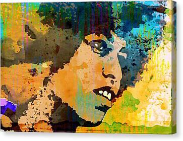 Angela Davis-4a Canvas Print by Otis Porritt