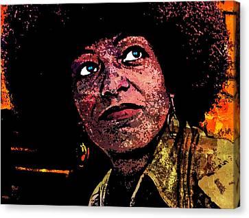 Angela Davis-5 Canvas Print by Otis Porritt