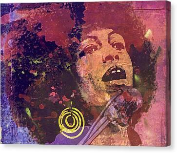 Angela Davis-6b Canvas Print by Otis Porritt