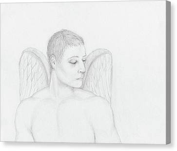 Angelic Gaze Canvas Print by Stevie the floating artist
