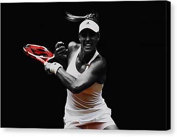 Angelique Kerber 3e Canvas Print by Brian Reaves