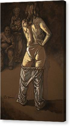 Angelique With Men Canvas Print by Paul Herman